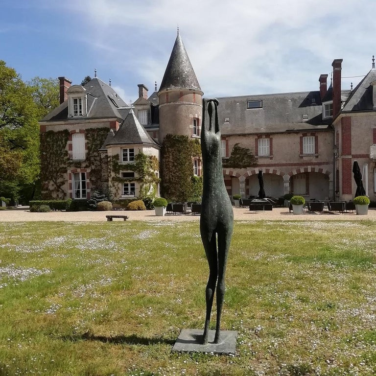 Arms Raised Monumental Standing Figure I by Pierre Yermia - Outdoor sculpture  For Sale 3