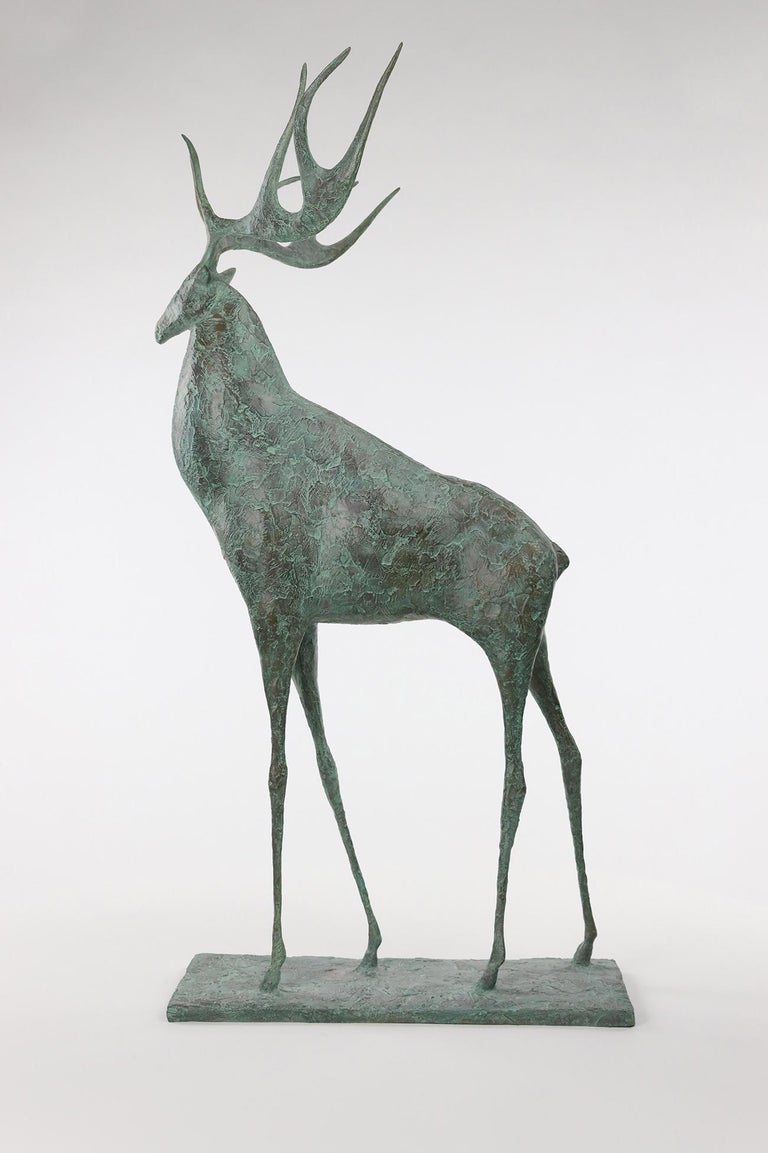 Deer II is a sculpture by French contemporary artist Pierre Yermia. This sculpture is signed and numbered. Edition of 8 & 4 A.P.