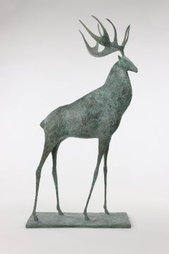 Stag II - Contemporary Animal Sculpture