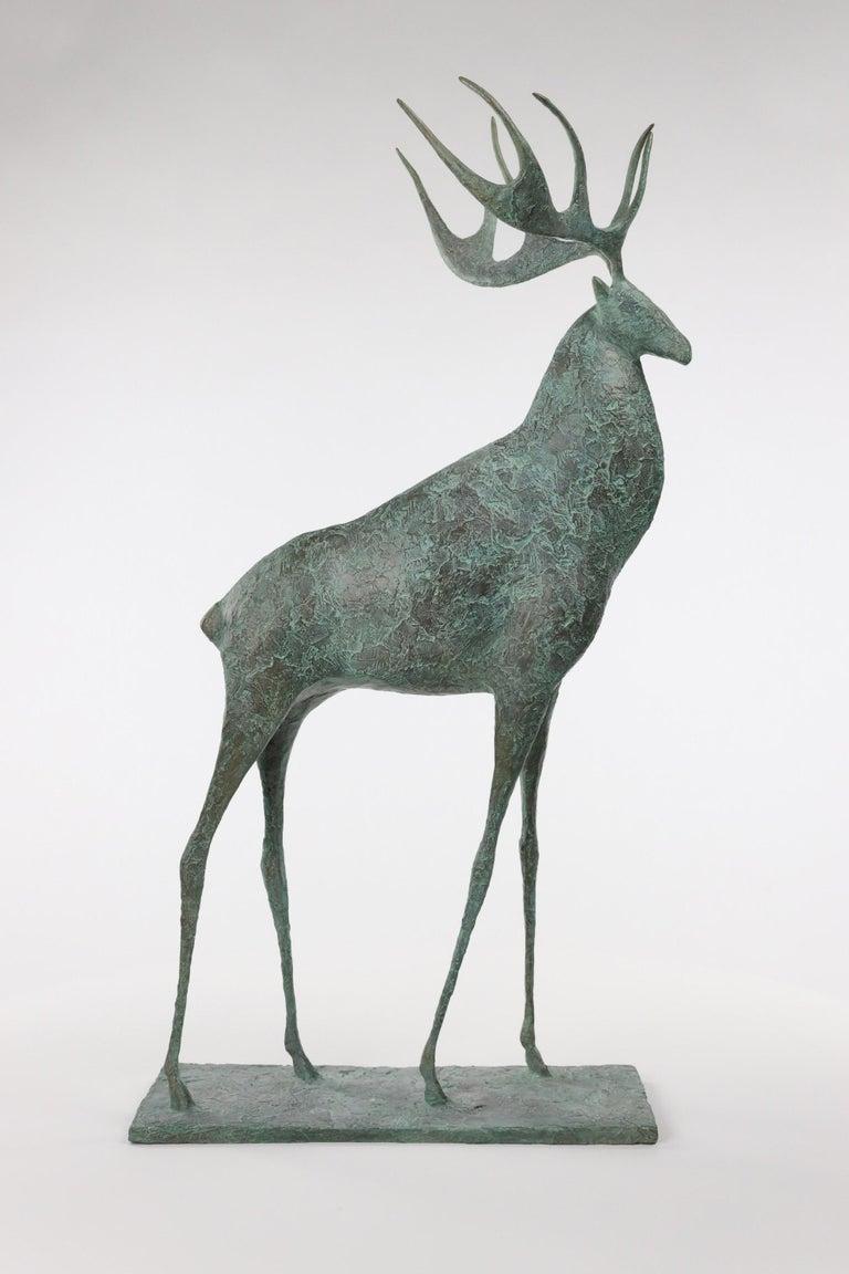 Pierre Yermia Figurative Sculpture - Deer II - Contemporary Animal Sculpture
