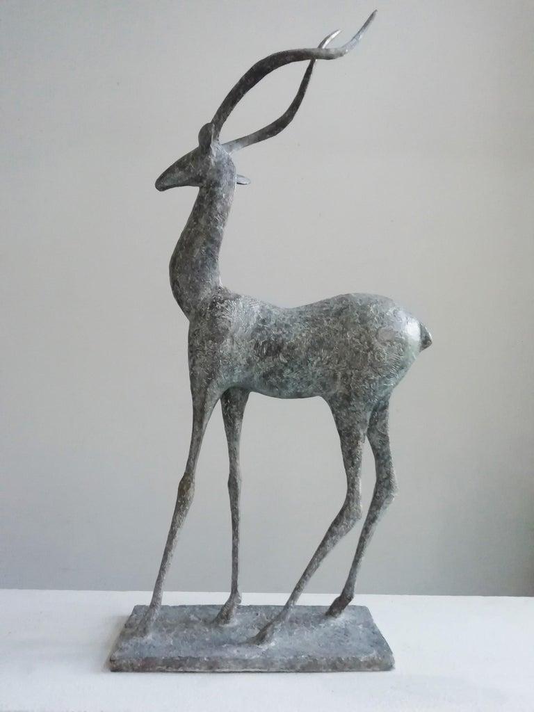 Pierre Yermia Figurative Sculpture - Gazelle IV, Animal Bronze Sculpture