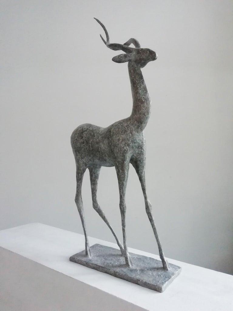 Gazelle IV, Animal Bronze Sculpture For Sale 1