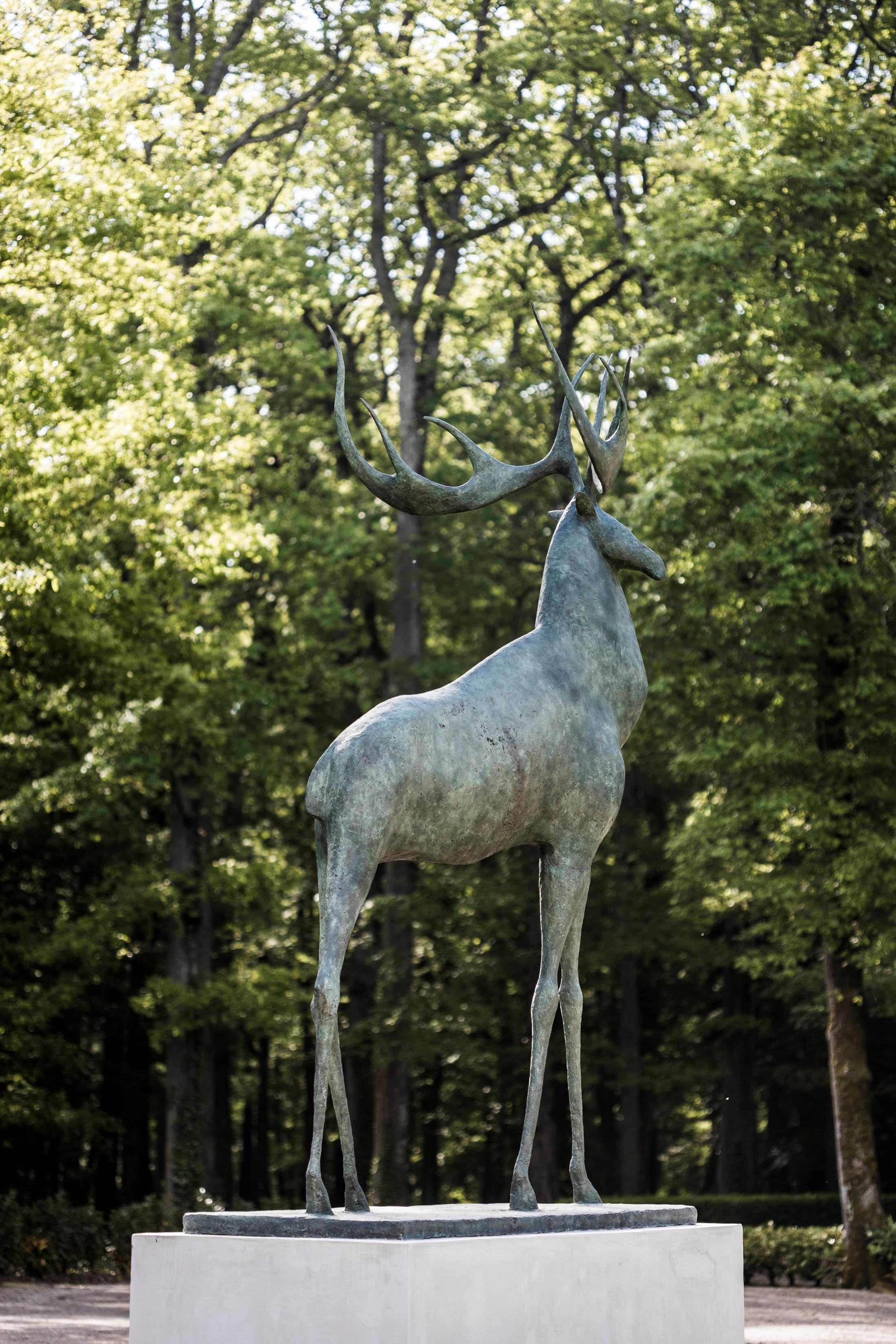 Great Stag - Large Animal Bronze Sculpture