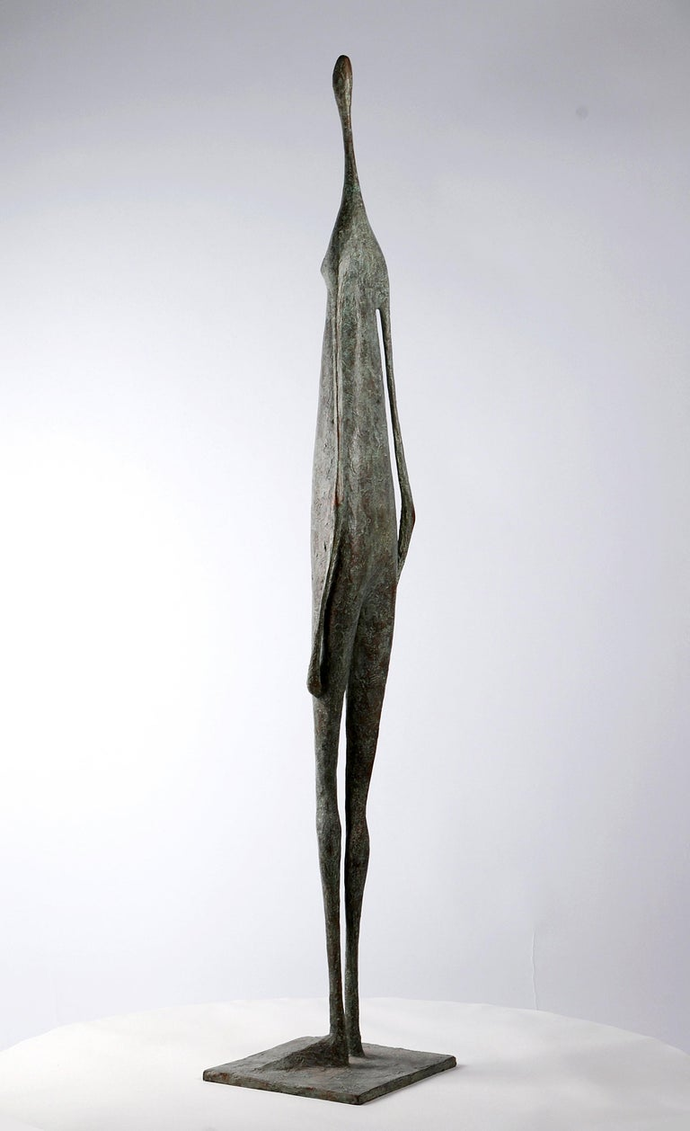Great Standing Figure II - Contemporary Bronze Sculpture - Gold Nude Sculpture by Pierre Yermia