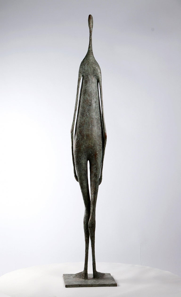 Great Standing Figure II (Grande Figure Debout II) is a bronze sculpture by French artist Pierre Yermia.  In this piece the sculptor is detailing the representation of the human figure placing importance on willowy, clean and slender forms.
