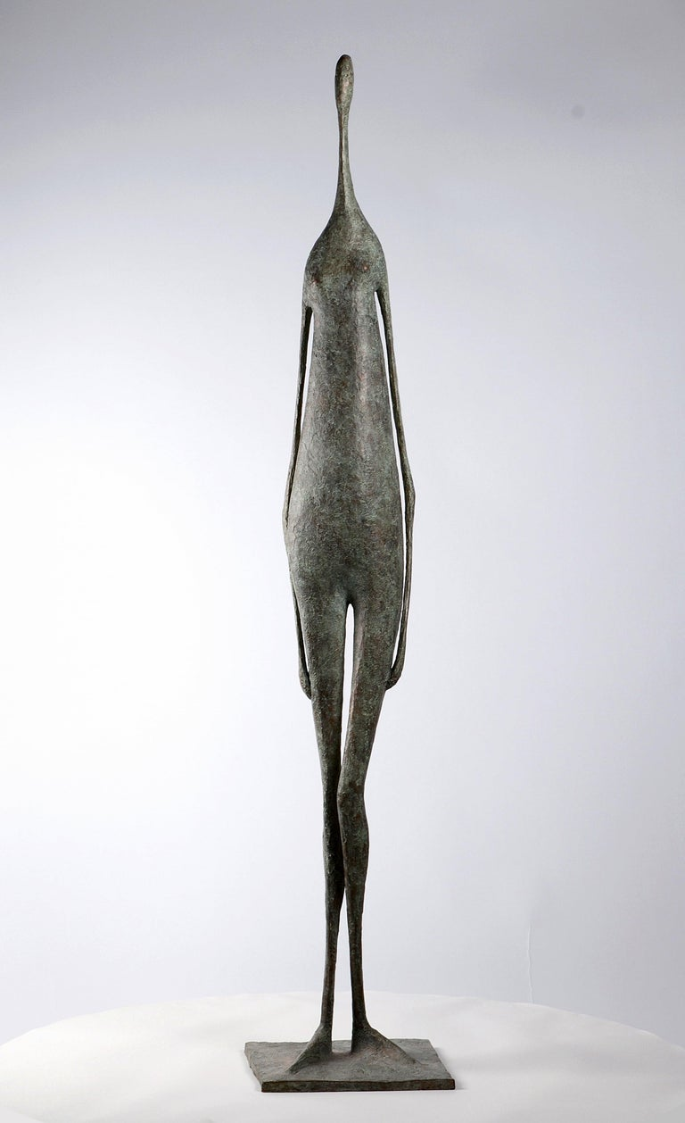 Pierre Yermia Figurative Sculpture - Great Standing Figure II - Bronze Sculpture
