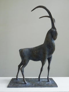 Ibex, Animal Bronze Sculpture