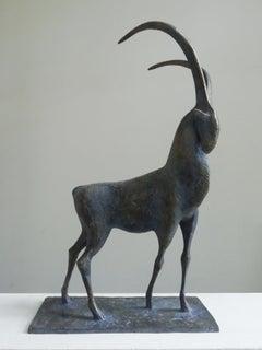 Ibex, Animal Bronze Sculpture