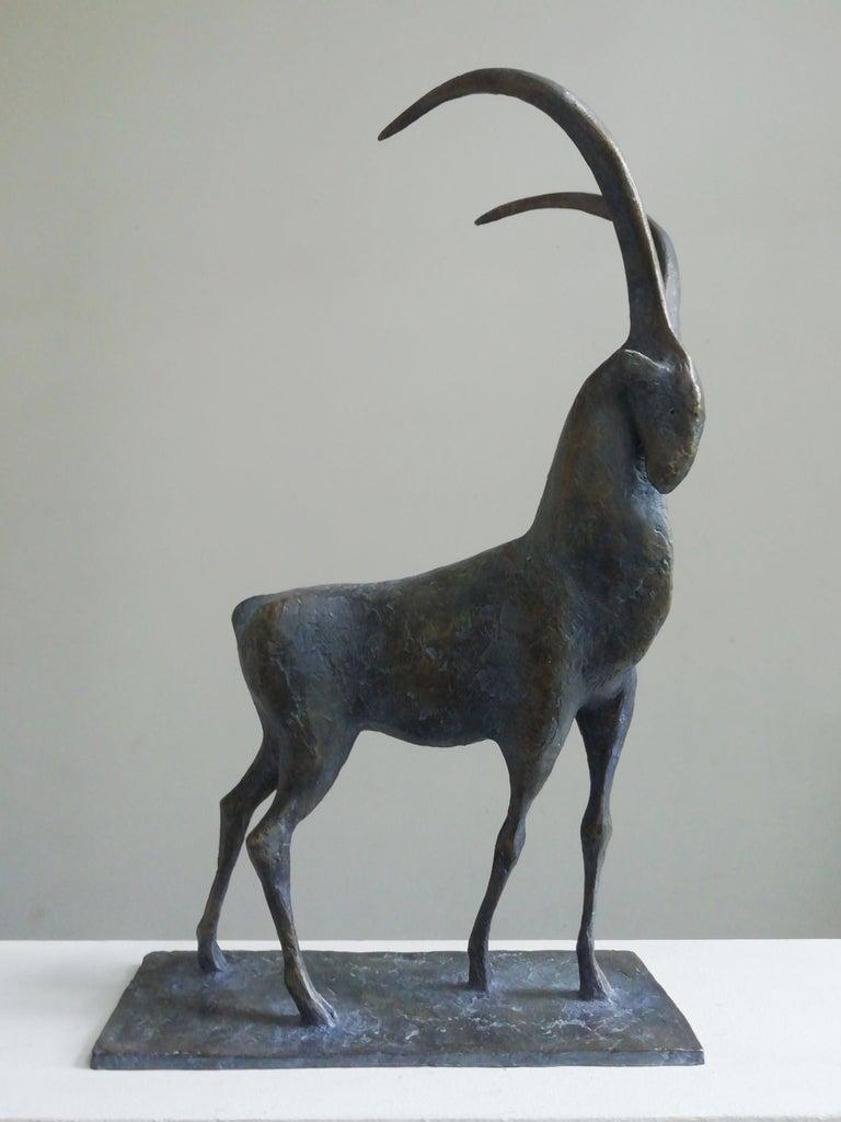 Pierre Yermia Figurative Sculpture - Ibex, Animal Bronze Sculpture