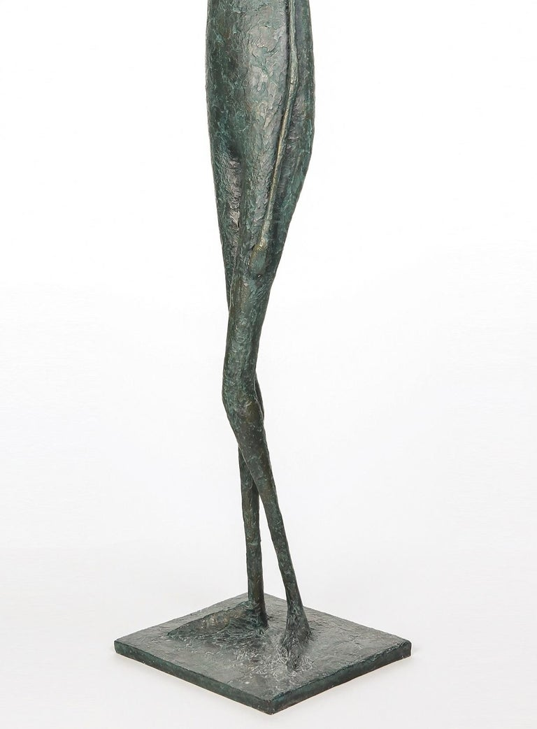 Large Standing Figure IV (contemporary bronze sculpture) - Contemporary Sculpture by Pierre Yermia