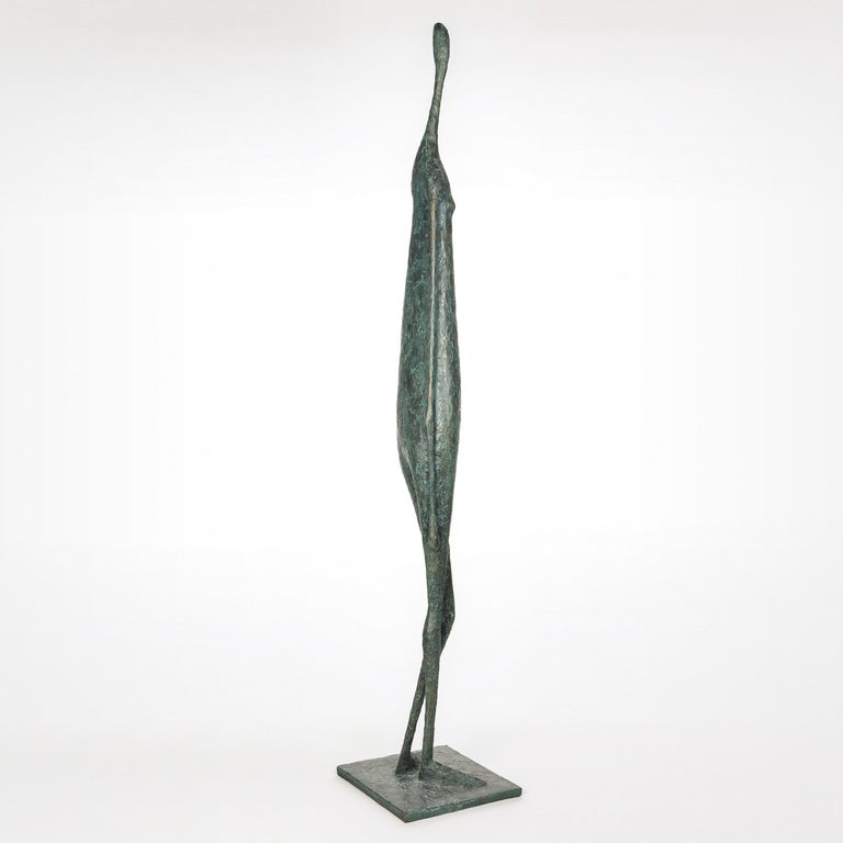 Large Standing Figure IV (Grande figure debout IV)  is a large-scale sculpture by French contemporary artist Pierre Yermia. Bronze, 147 cm × 28 cm × 26 cm. Edition of 8 + 4 A.P. Each cast is signed and numbered.  Pierre Yermia has been developing