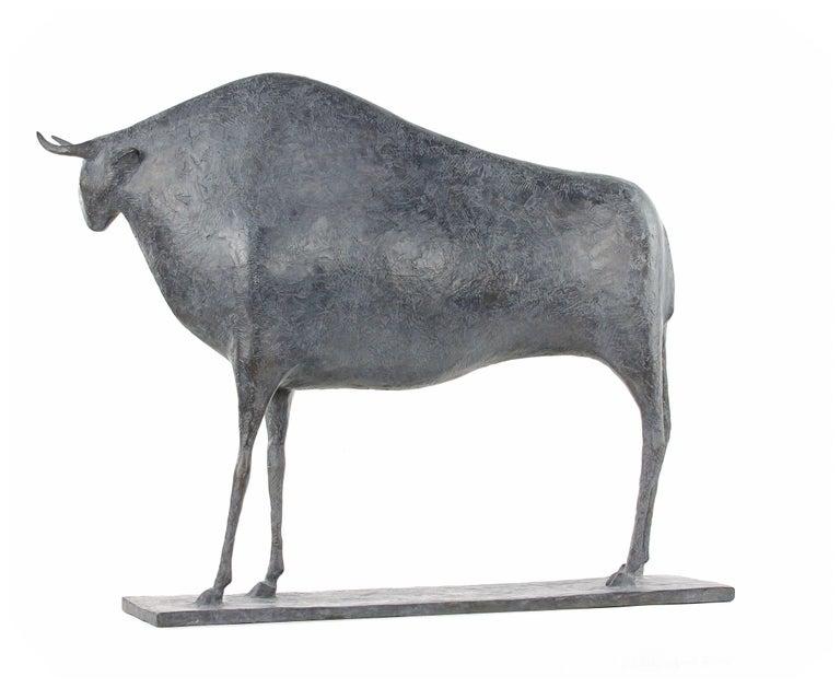 Taureau V (Bull V), Animal Bronze Sculpture 4
