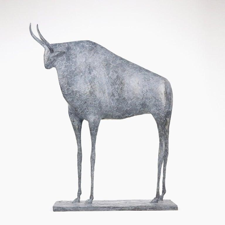 Pierre Yermia Figurative Sculpture - Taureau VII (Bull VII)  - Contemporary Animal Sculpture