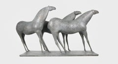 Three Horses, Animal Bronze Sculpture