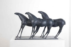 Three Horses, Animal Bronze Sculpture