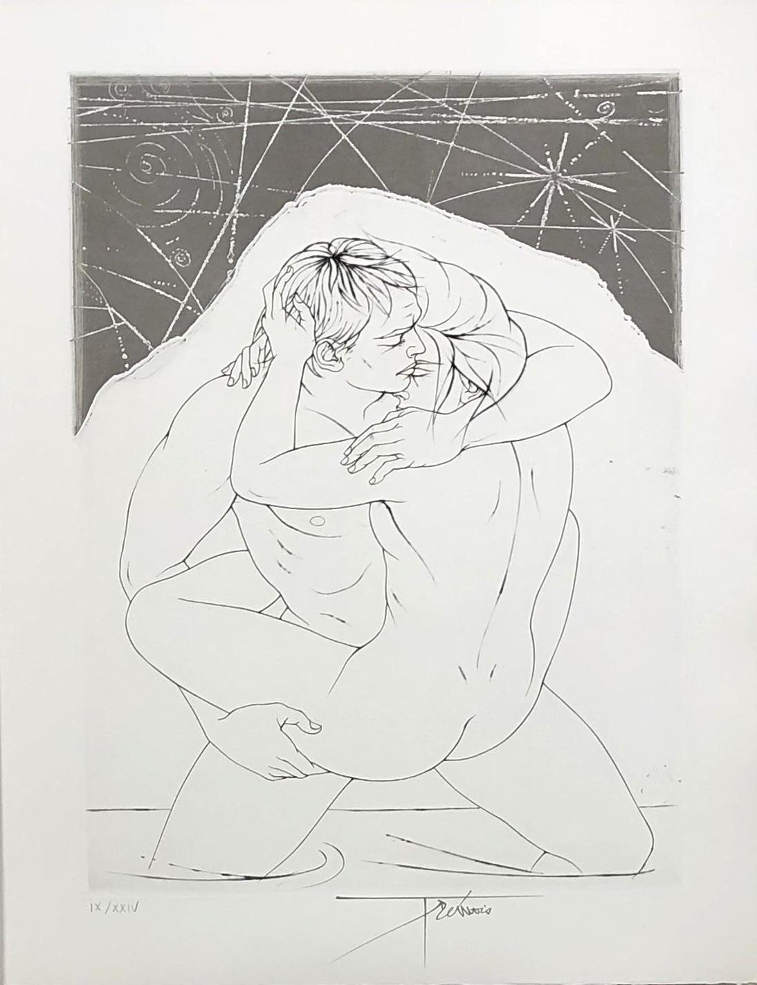 A Loving Couple - Original etching handsigned and numbered