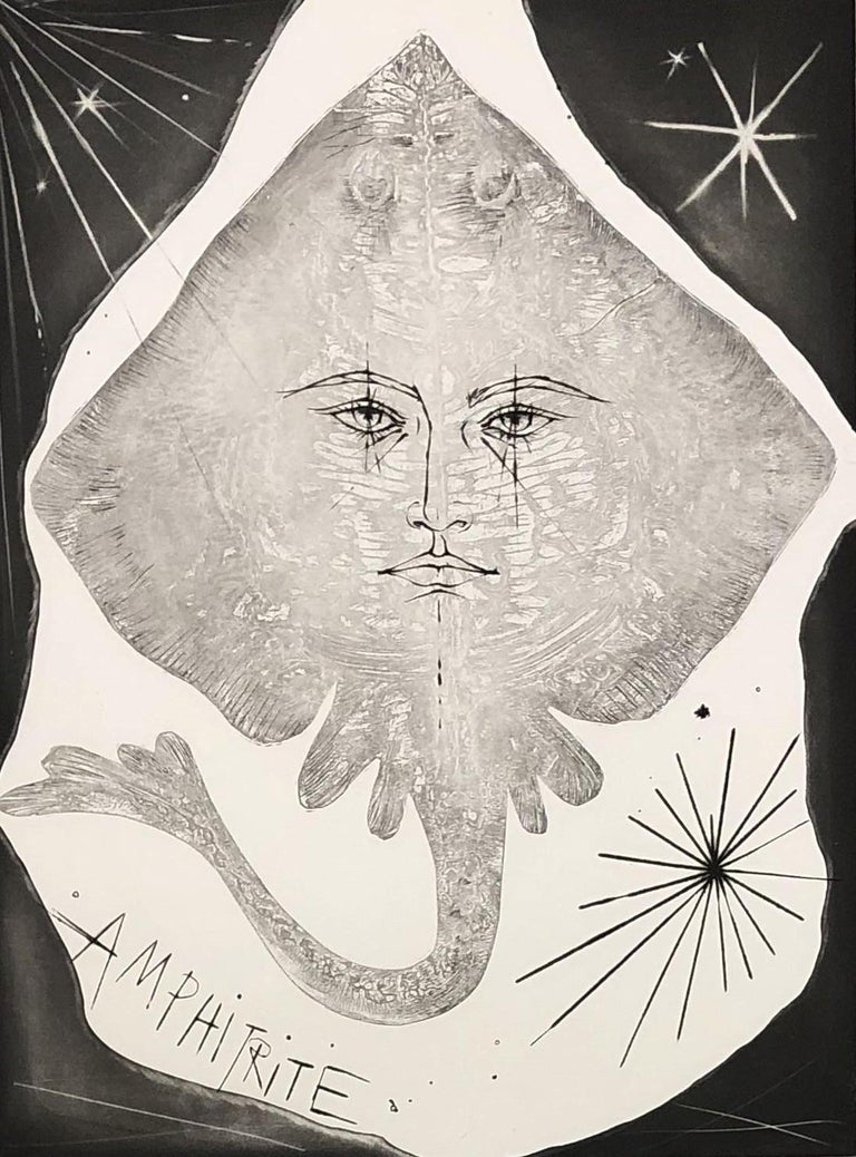 A Wild Ray - Original etching, Handsigned and numbered - Print by Pierre-Yves Trémois