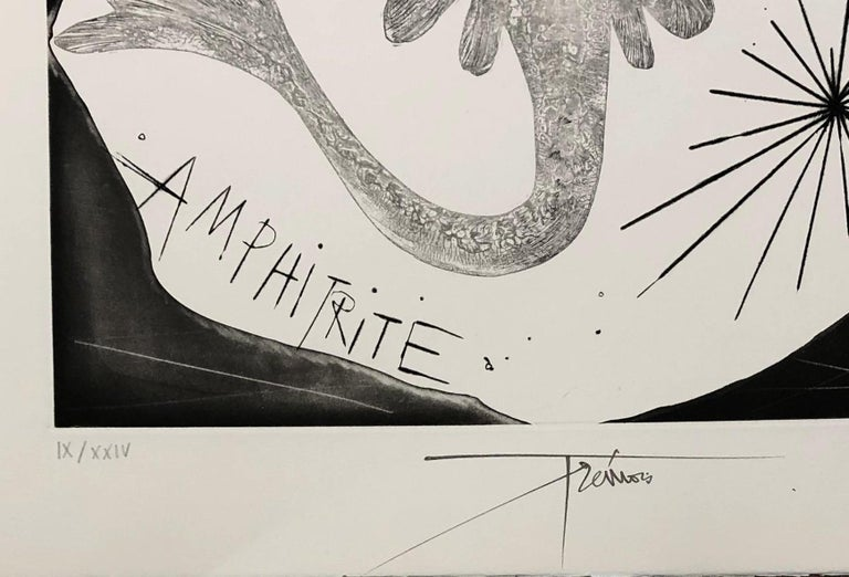 A Wild Ray - Original etching, Handsigned and numbered - Surrealist Print by Pierre-Yves Trémois
