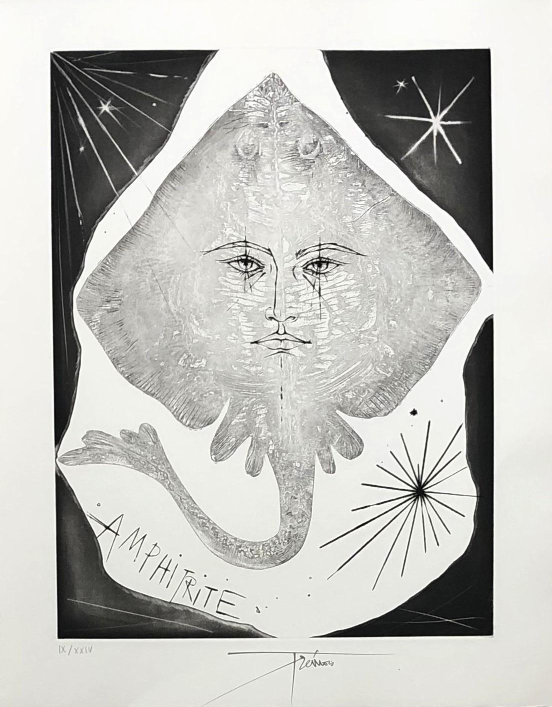 A Wild Ray - Original etching, Handsigned and numbered