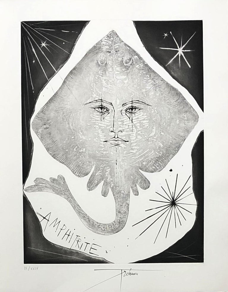 Pierre-Yves Trémois Figurative Print - A Wild Ray - Original etching, Handsigned and numbered