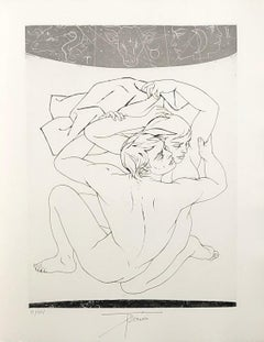 Lovers - Thétis and Pelée - Original etching handsigned and numbered