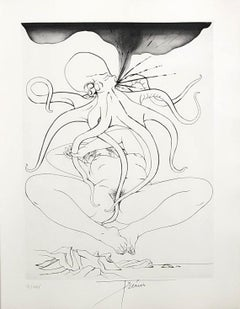 Naked Woman Lying Down - Original etching handsigned and numbered