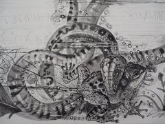 Oppian : Snake and Toad - Original Etching