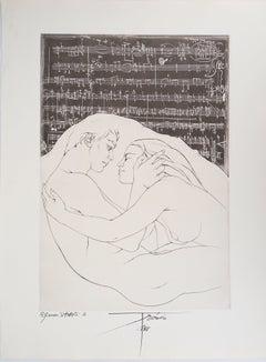 Pierre-Yves TRÉMOIS :  Harmony - Original Handsigned Etching, 1968