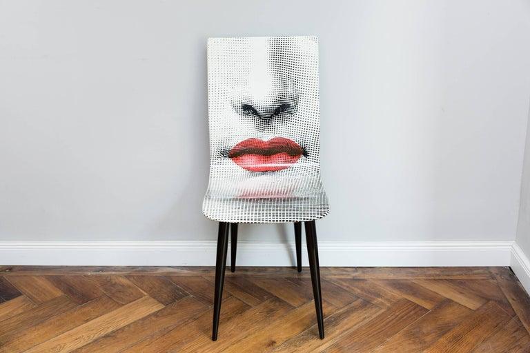 Mid-Century Modern Pierro Fornasetti Bocca Chair, Italy Milano, 2006 For Sale