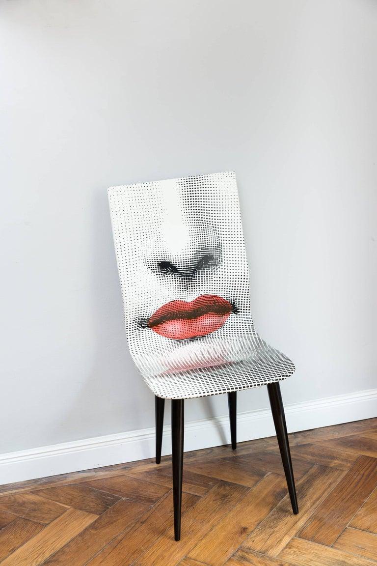 Italian Pierro Fornasetti Bocca Chair, Italy Milano, 2006 For Sale