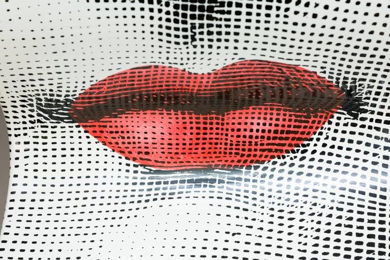 Lacquered Pierro Fornasetti Bocca Chair, Italy Milano, 2006 For Sale