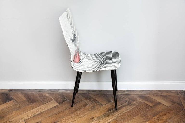 Contemporary Pierro Fornasetti Bocca Chair, Italy Milano, 2006 For Sale