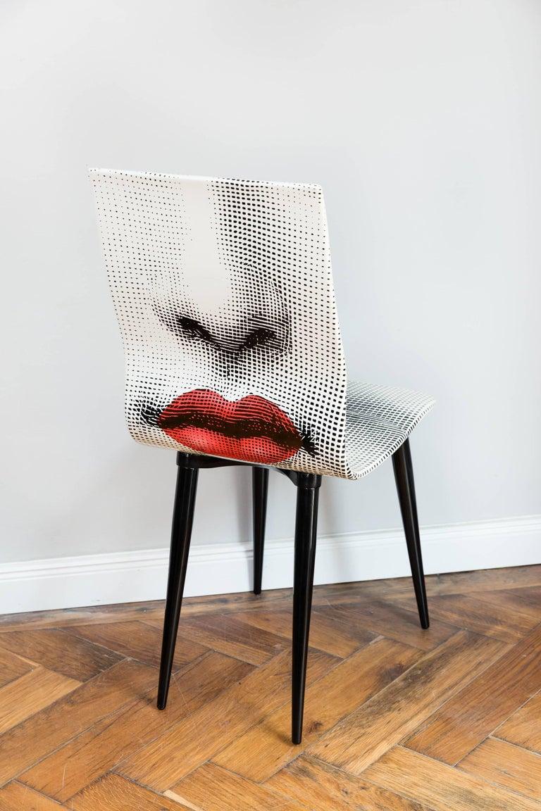 Hardwood Pierro Fornasetti Bocca Chair, Italy Milano, 2006 For Sale