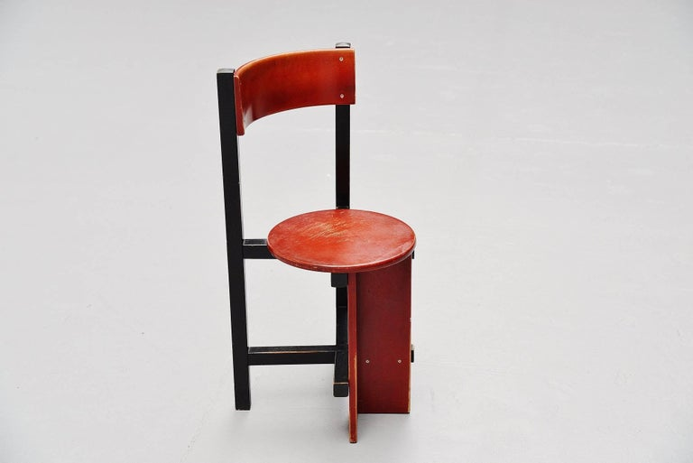 Cold-Painted Piet Blom Bastille Chair for Twente Institute of Technology, 1964 For Sale