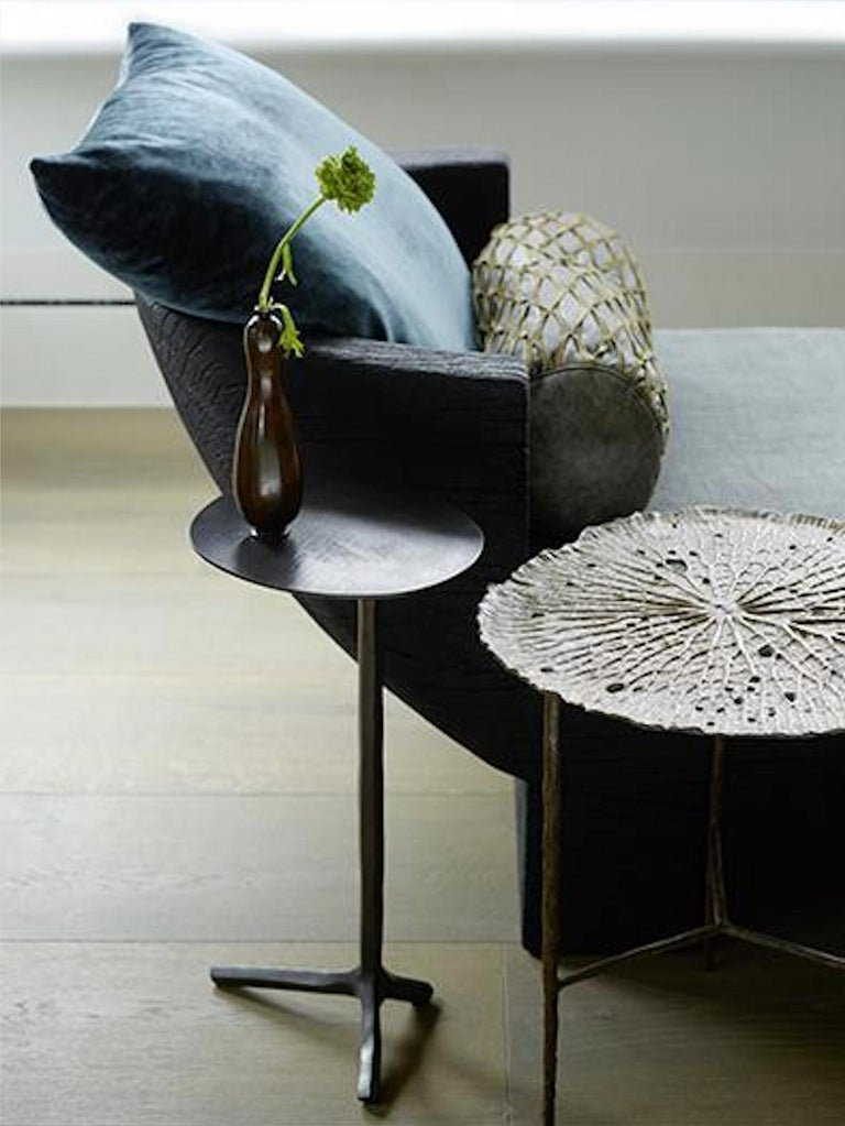 Organic Modern Piet Boon Klink side table in Dark Bronze For Sale