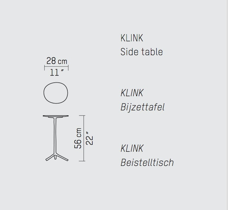 Contemporary Piet Boon Klink side table in Dark Bronze For Sale