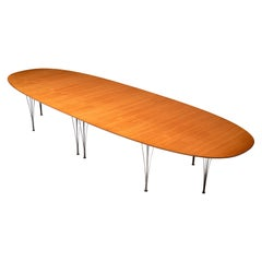 Piet Hein and Bruno Mathsson Conference Table Model 'Superellipse' in Teak
