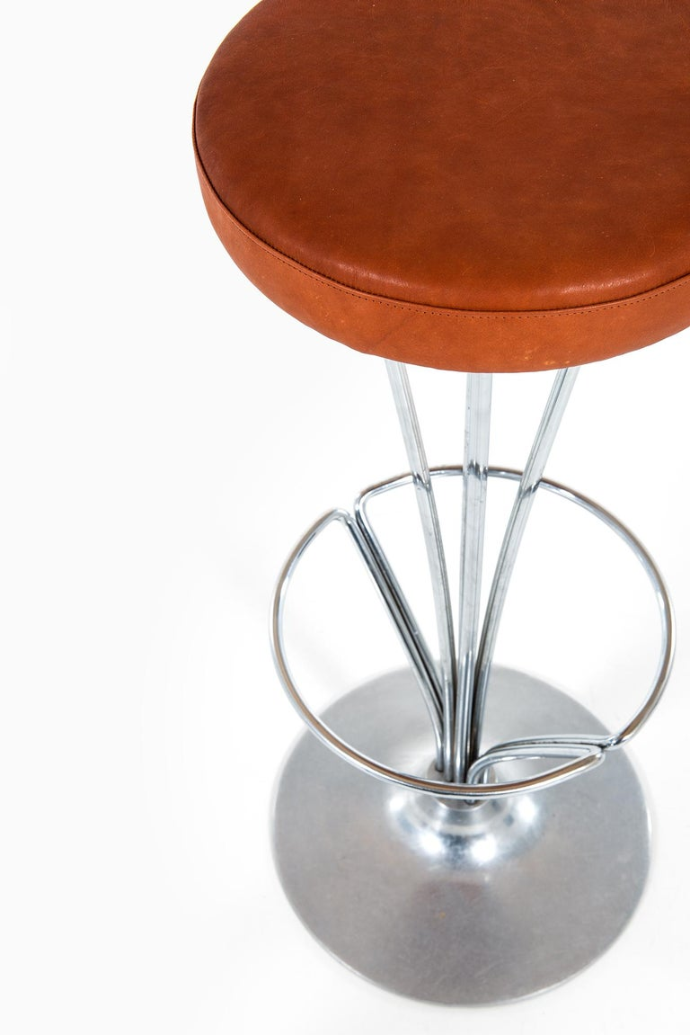 Piet Hein Bar Stools by Fritz Hansen in Denmark In Good Condition For Sale In Malmo, SE