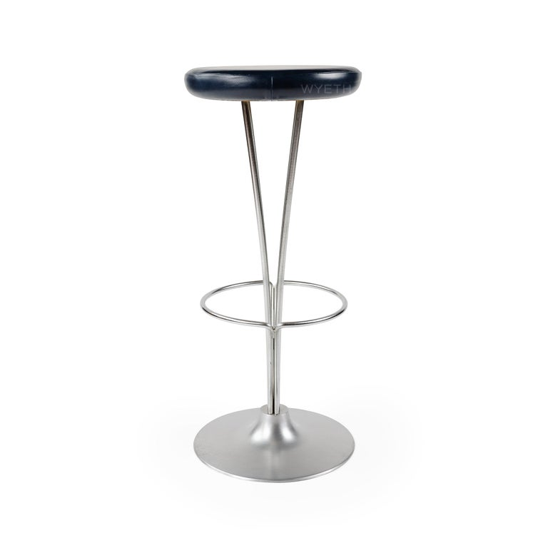 Piet Hein Barstool for Fritz Hansen In Excellent Condition For Sale In New York, NY