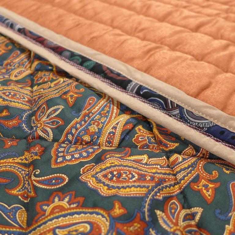 Piet Hein Eek Italian Silk Quilt Blanket For Sale 3