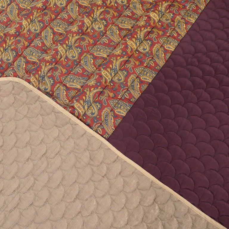 Piet Hein Eek Italian Silk Quilt Blanket For Sale 4