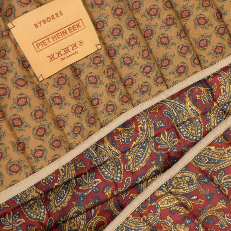 Piet Hein Eek Italian Silk Quilt Blanket For Sale 5