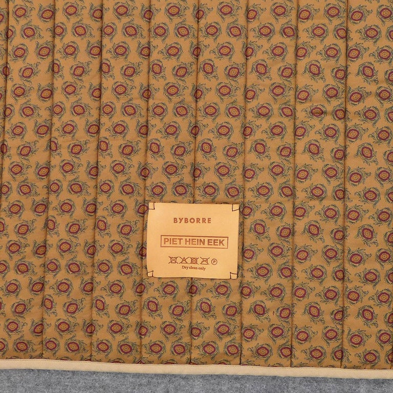 Modern Piet Hein Eek Italian Silk Quilt Blanket For Sale