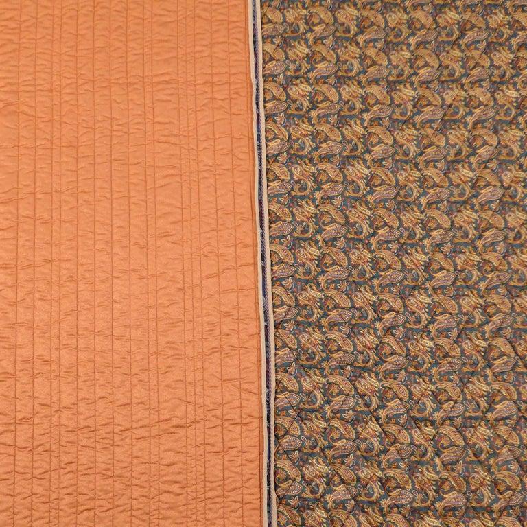Dutch Piet Hein Eek Italian Silk Quilt Blanket For Sale