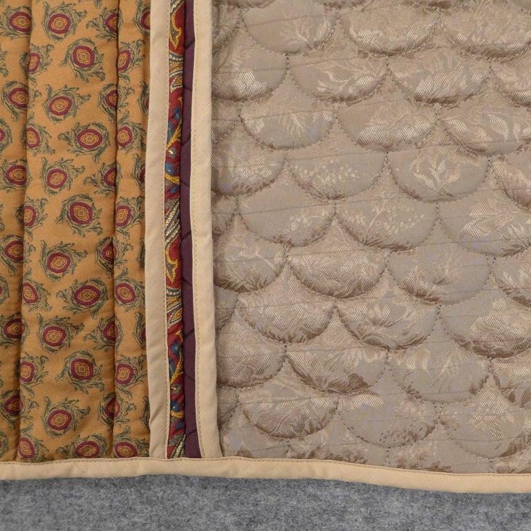 Quilted Piet Hein Eek Italian Silk Quilt Blanket For Sale