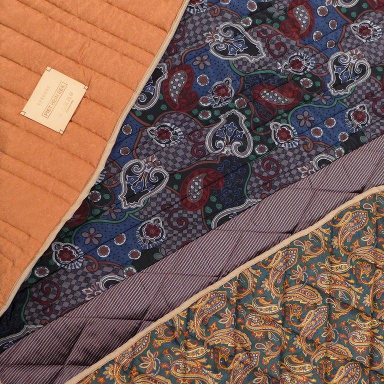 Contemporary Piet Hein Eek Italian Silk Quilt Blanket For Sale