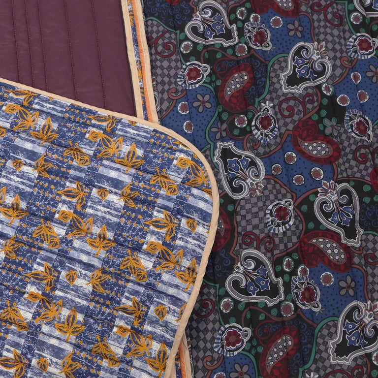 Piet Hein Eek Italian Silk Quilt Blanket For Sale 1