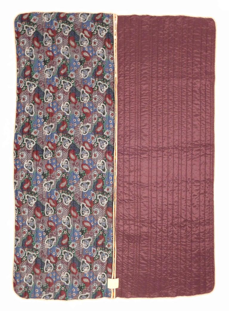 Piet Hein Eek Vintage Italian Silk Quilt Blanket In Excellent Condition For Sale In Amsterdam, NL