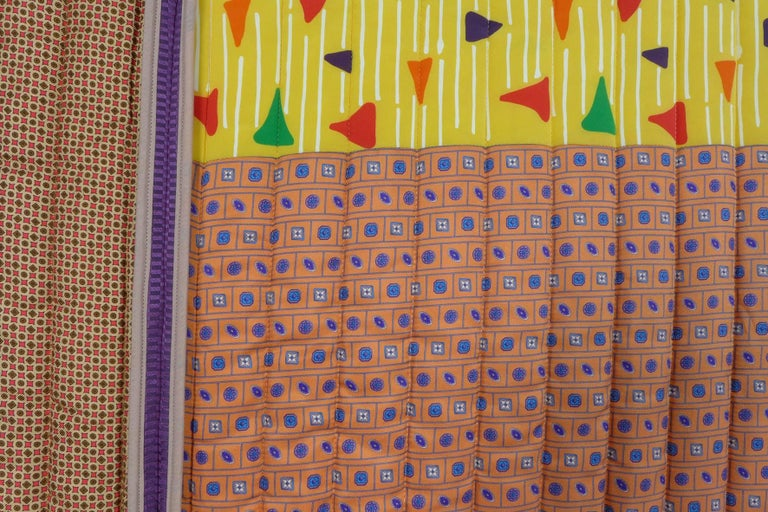 Contemporary Piet Hein Eek Vintage Italian Silk Quilt Blanket For Sale