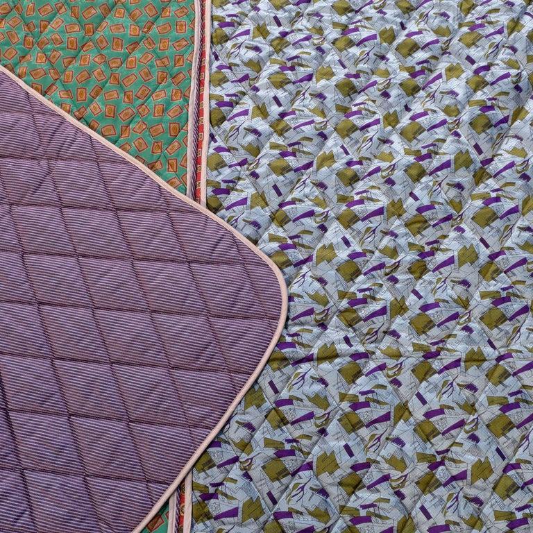 Piet Hein Eek Vintage Italian Silk Quilt Blanket For Sale 1